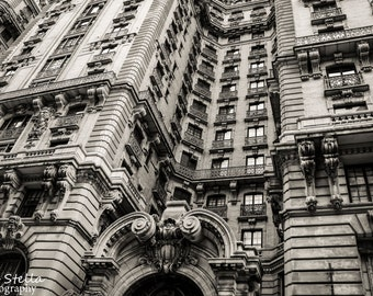 NY City Architecture, Black and White, 8x10 Inch Print