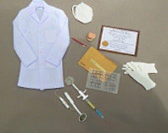 dental lab coat an office needs dollhouse miniature 1/12 scale
