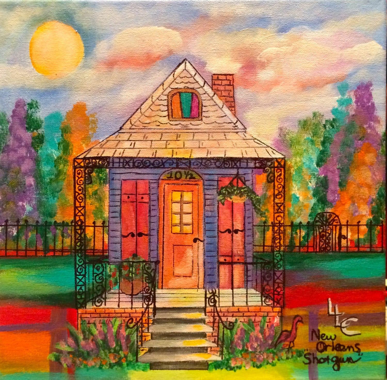 101 2 New Orleans Shotgun House Original Painting