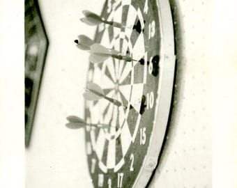 game of darts vintage photograph