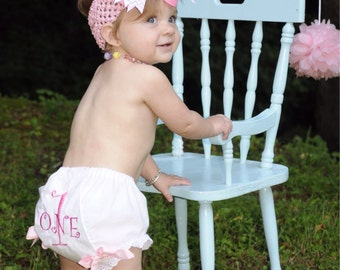 1st Birthday Bloomers pink priness diva
