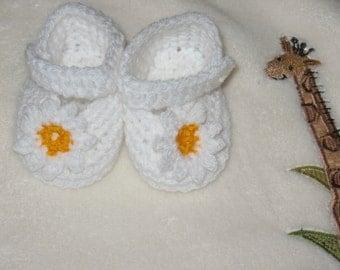 Handmade newborn baby girl shoes