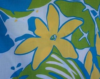 Hawaiian floral aloha print fabric