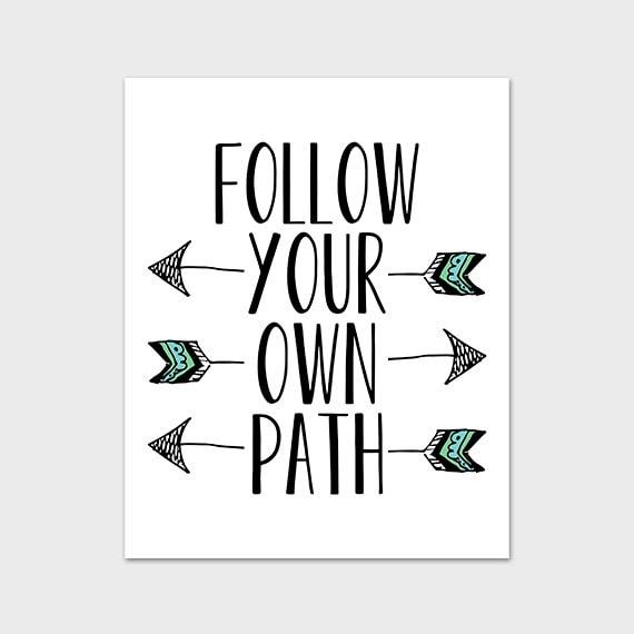 Classroom Design Arrow Or X ~ Items similar to printable art print follow your own