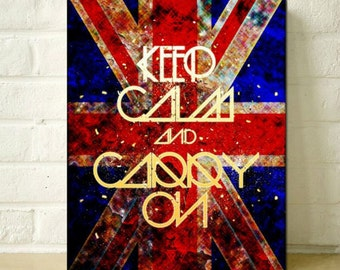 A2/A3 Digital Canvas Prints Keep Calm And Carry On art prints modern Giclee print