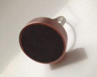 Dark Grey Resin Ring