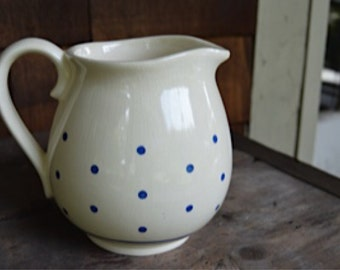 Cute Vintage Polka Dot Pitcher