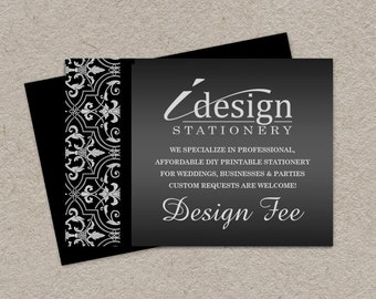 iDesign Stationery Design Fee