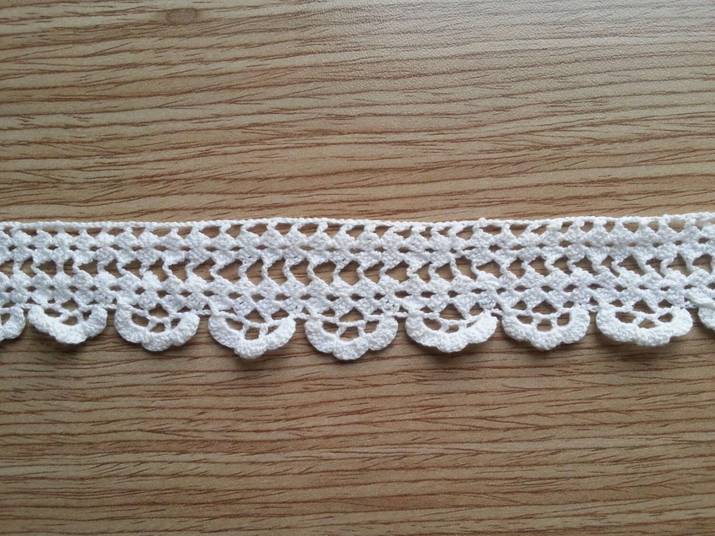 Vintage lace edge crocheted cotton trim crochet lace trim for Lace home decor