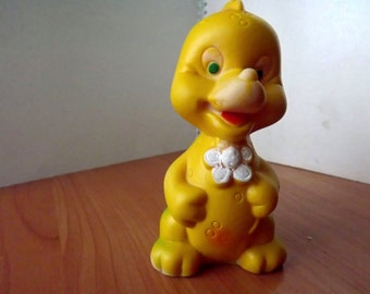 "Vintage soviet rubber toy ""dragon"". Made in the USSR. RARE!"