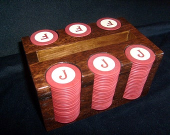 Monogram Inlaid Poker Chip Set  - PRICE INCLUDES SHIPPING