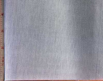 White 1X1 Baby Rib Fabric 2 Way Stretch Spun Polyester 9 Oz 58-60""