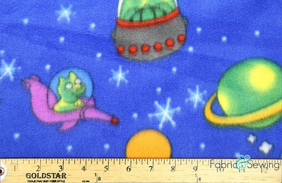 Space racer anti pill polar fleece plush fabric polyester 13 for Space themed fleece fabric
