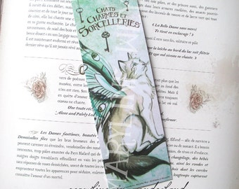 """Bookmark cat """"cats, charms and sorceries"""" Butterfly Fairy cat"""