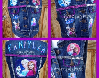 Custom Denim Frozen Vest