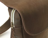 Leather backpack – Leather side bag – Leather convertible bag – Small leather backpack – Small leather side bag - Small messenger bag