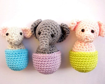 Refrigerator magnets with amigurumi animals, cute fridge magnets, animal magnets