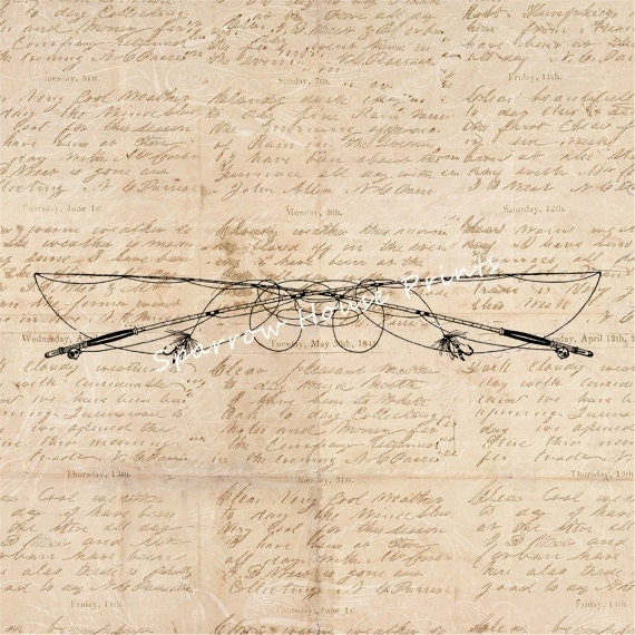 Items similar to fly fishing art antique wall art fishing for Fly fishing decor
