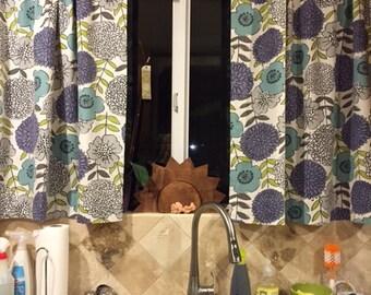 "Custom Curtain - 40"" W x 20"" L - window curtains - kitchen curtains - cafe curtains"