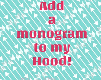 Add a Monogram to anything!