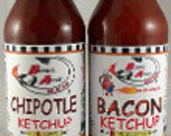 Bacon & Chipotle Ketchup 2-Pack Artisan Made