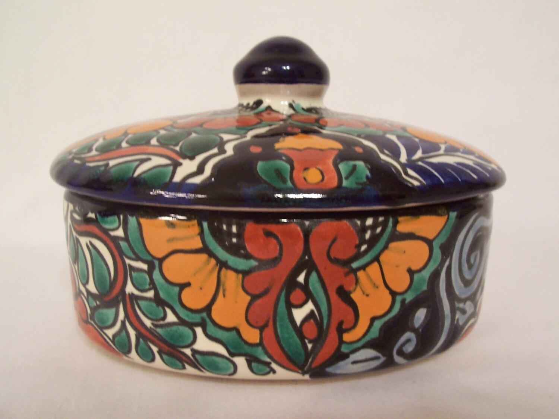 trinket jewelry box ceramic talavera terracotta majolica