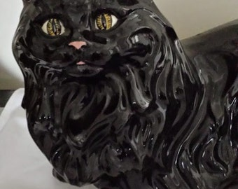 Black Cat Ceramic Figurine
