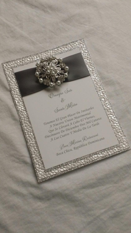 Bling Wedding Invitations 001 - Bling Wedding Invitations