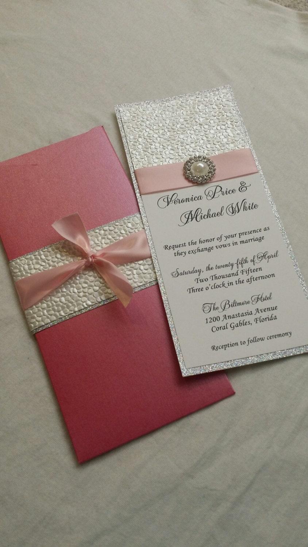 pebble paper pocketfold wedding invitation with custom - 28 images ...