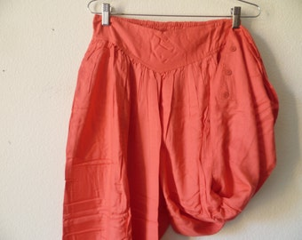 Vintage 1980s Women High Waist Pants, Elastic Waist Pants, New Old Stock, Made in India