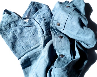 Vintage 80s Blue Dress, Long Maxi Dress, Soji New Old Stock, Size Medium