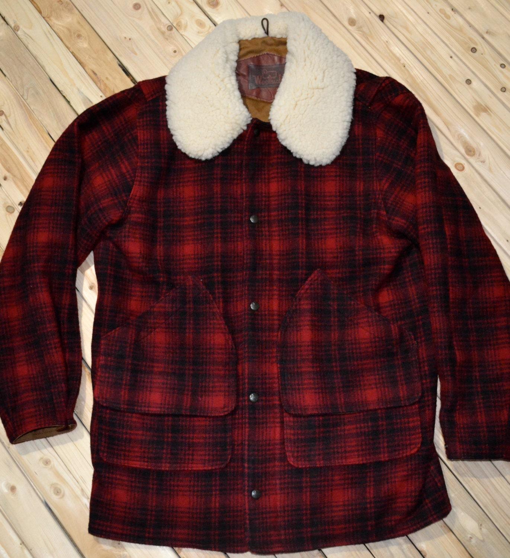 peau de mouton woolrich mackinaw champ manteau laine veste. Black Bedroom Furniture Sets. Home Design Ideas
