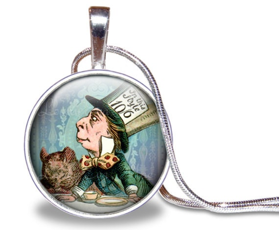mad hatter necklace mad hatter pendant mad hatter jewelry