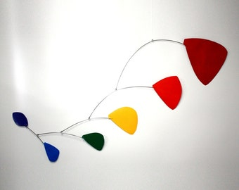 Pilot Calder Style Hanging Mobile - Rainbow Leaves
