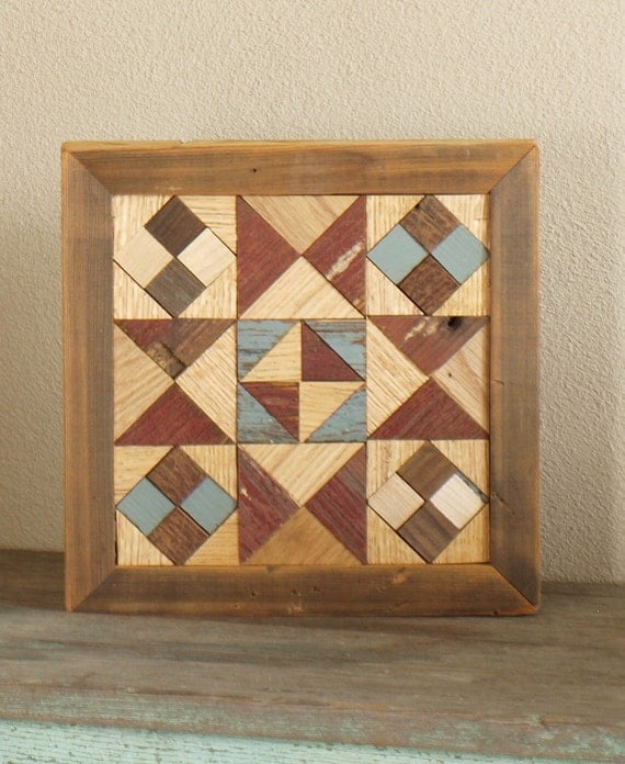 wooden barn quilt, americana quilt block, red and white and blue quilt