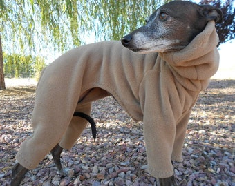 Pop!RPF™ Recycled Polartec® Fleece Dog Suit made from 85% recycled pop bottles-custom made Italian greyhound clothing