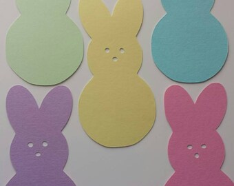 Easter Peeps Paper Cutout 10 inchs