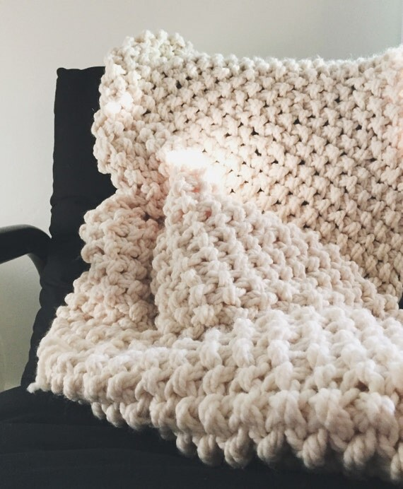 Chunky Knitted Baby Blankets Chunky Knit Blanket //...