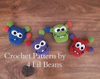 Crochet Pattern: Crochet Monster Amigurumi, Monster Ornament,  Christmas Ornament Pattern, Tutorial (Pattern 02) Digital Download