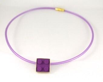 Violet Lego necklace