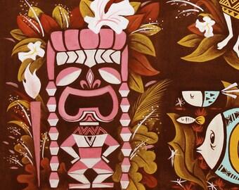 Hawaiian, Tiki,Hula Girl, Wall decor, Polynesian pop, Mid Century Modern Art Print Poster Vintage Retro Style.A3size