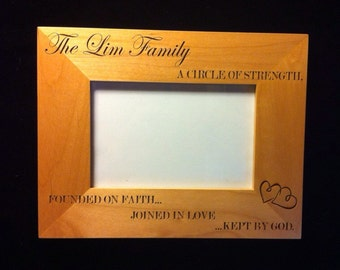 engraved family frame wedding frame mothers day frame valentines day frame family - Mothers Day Picture Frame