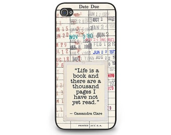 Cassandra Clare Quote Phone Case - Library Due Date Card iPhone 6 Case - iPhone 6 Gift for Readers - Library Checkout Card iPhone 6 Case