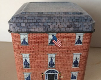 Collectable tin house box