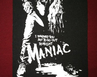Maniac Cloth Punk Patch