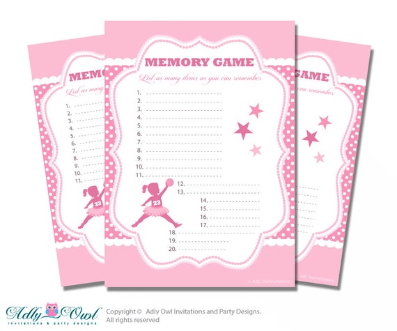 memory game for baby shower printable card for baby basketball shower