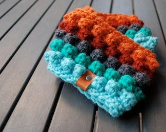 Ear Warmer / Warm Crochet Headband - Seaside