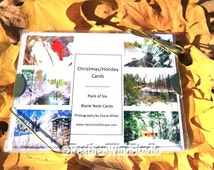 Variety Pack Christmas Cards | Holiday Greetings | Outdoor Photo Art | Winter Snow | Ready to Ship | Six Pack Blank Note Cards With Envelope