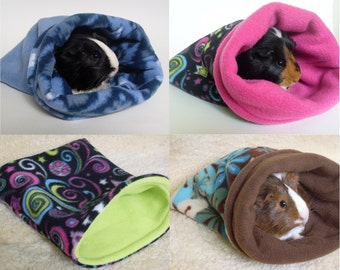 Guinea pig snuggle sack - custom prints - guinea pig - chinchilla - ferret - hedgehog - cozy fleece bag - MADE TO ORDER