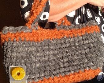Grey and orange bag